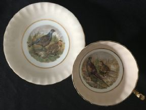 Aynsley 'Game birds' cabinet cup & saucer